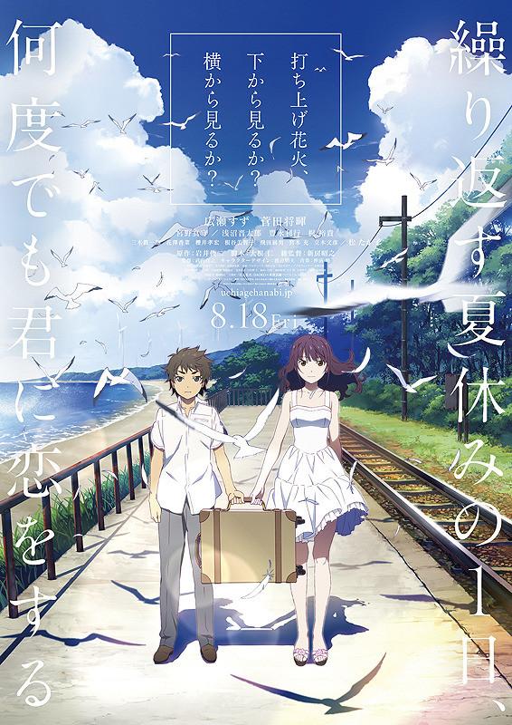 Reseña de la película Luces en el Cielo - Fireworks - Uchiage hanabi, shita kara miru ka? Yoko kara miru ka? (2017)