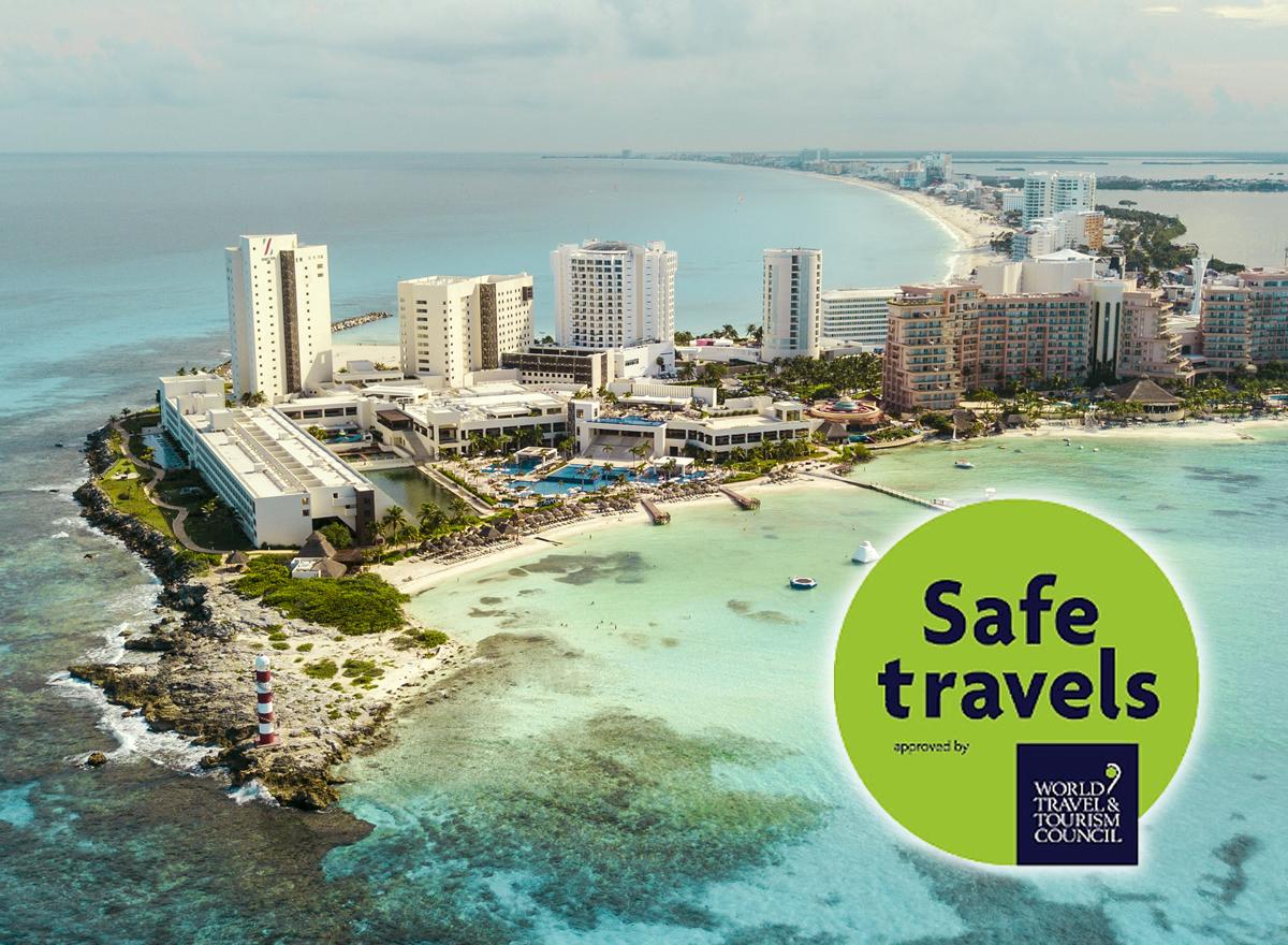Cancún recibe el sello de seguridad para viajes de la WTTC, primer destino de America en recibirlo